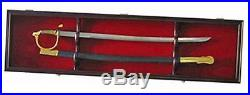 1 sword display case cabinet stand holder wall rack shadow box lockable with 98%