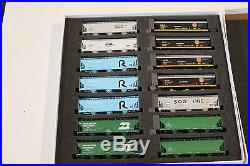 14 N scale Covered Hoppers, KCS, BN and others