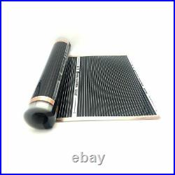 400withm2 Infrared Carbon AC220V Underfloor Heating Film Low Electrical Warm Mat