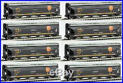 Bachmann N Scale ACF 4-Bay Center-Flow Covered Hoppers Kansas City Southern