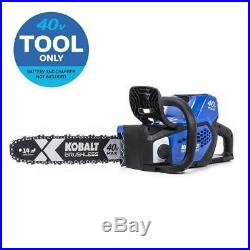 Cordless Electric Chainsaw 40 Volt Quiet Operation Auto Oiler Brushless Outdoor