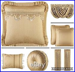 J. QUEEN NEW YORK, KING SIZE, 4 Pc, COMFORTER SET in Gold. (MSRP $500.00.) NEW