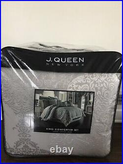 J Queen New York 4-pc King Comforter Set Teal/ King Size
