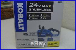 Kobalt 25V Max Lithium Ion Cordless Electric 12 Chainsaw With Battery & Charger