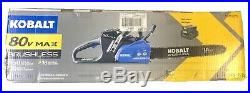 Kobalt 80 Volt Cordless 18 Chainsaw with 80V Battery & Charger