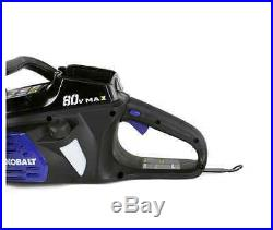 Kobalt 80-Volt Lithium Ion Li-ion Cordless Electric Chain Saw Chainsaw Tool Only