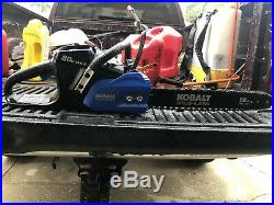 Kobalt 80V MAX Brushless Cordless Chainsaw with Battery & Charger 18 bar NICE