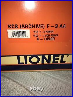 Lionel 6-14500 Kansas City Southern F3 AA Diesels Command Equip. Test Run LN