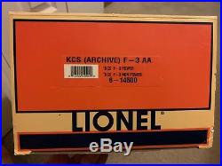 Lionel Kansas City Southern TMCC F3 Diesel A-A Archive Collection 6-14500