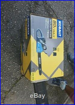 New Kobalt 80V 18 Bar Cordless Electric Chainsaw with Battery & Charger (0419015)