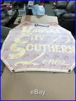RARE GIGANTIC Kansas City & Southern Herald Decal of Boxcar 47 by 47 HUGE