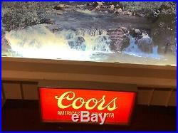 Vintage Coors Lighted Beer Sign KCS Industries RARE Big Advertisement 30x20 WOW